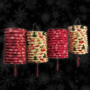 1950's Christmas Paper Lanterns (5 Pack)